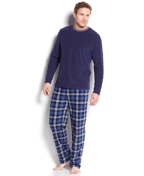 Club Room Mens Green Plaid Pajama Pants