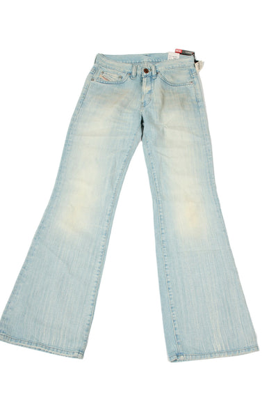 Diesel 'Daze' Mens Blue Distressed Boot Cut Jeans