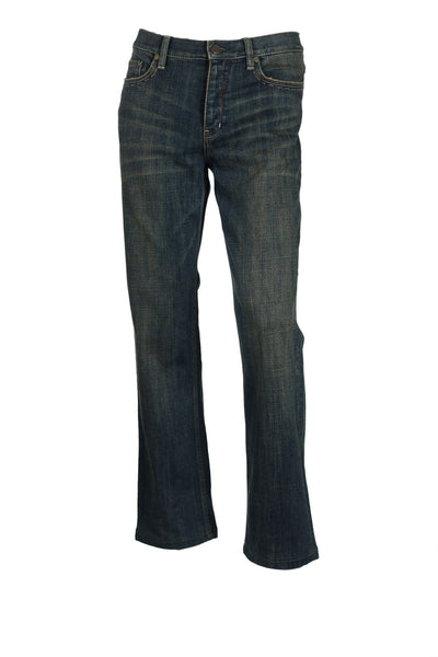 Elie Tahari Mens Blue Distressed Medium Wash Jeans