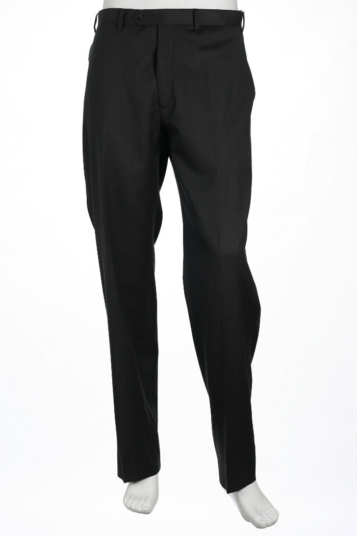 Alfani Red Mens Gray Pinstripe Flat Front Dress Pants
