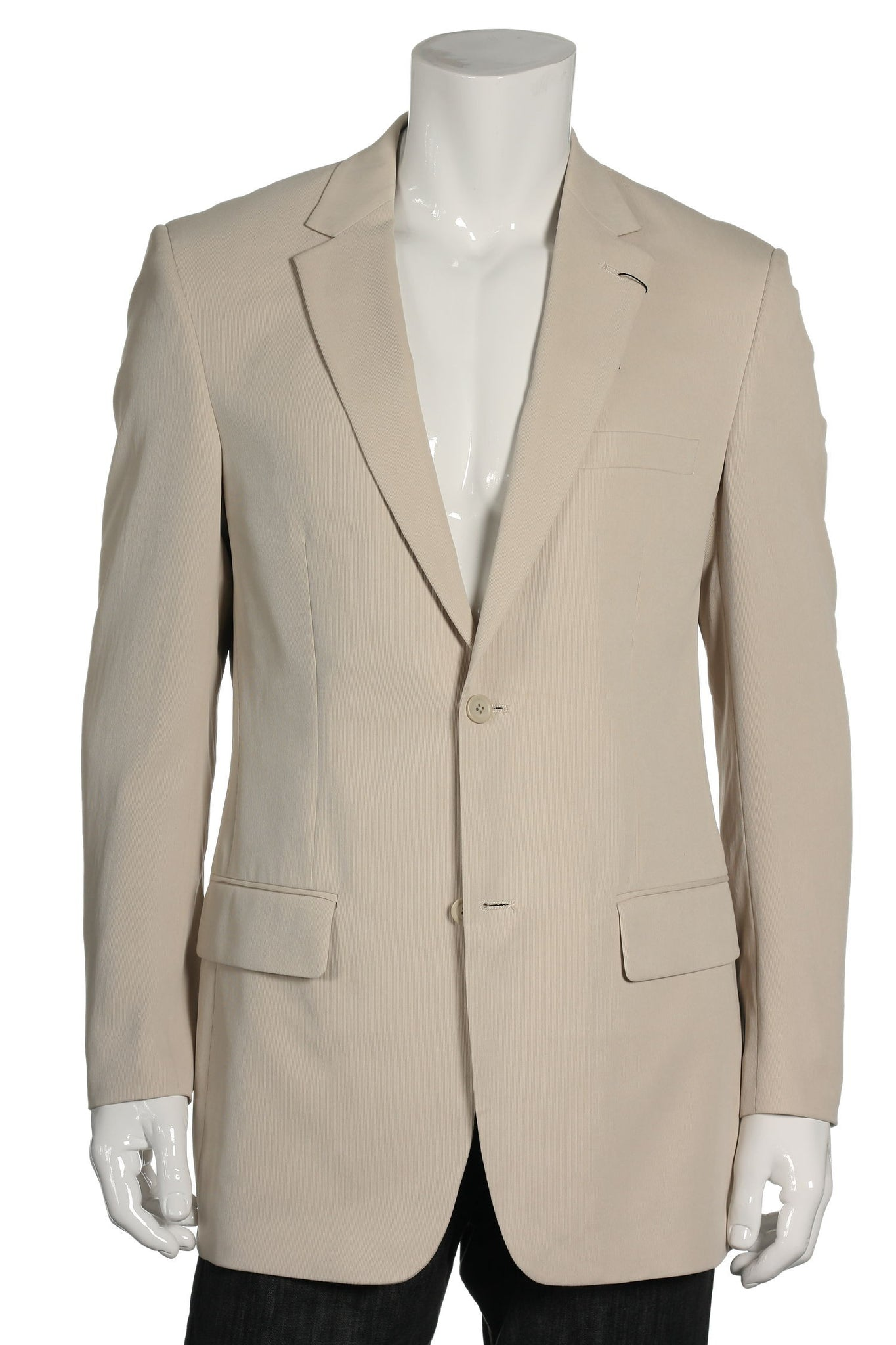 Alfani Mens Beige 2 Button Sport Coat