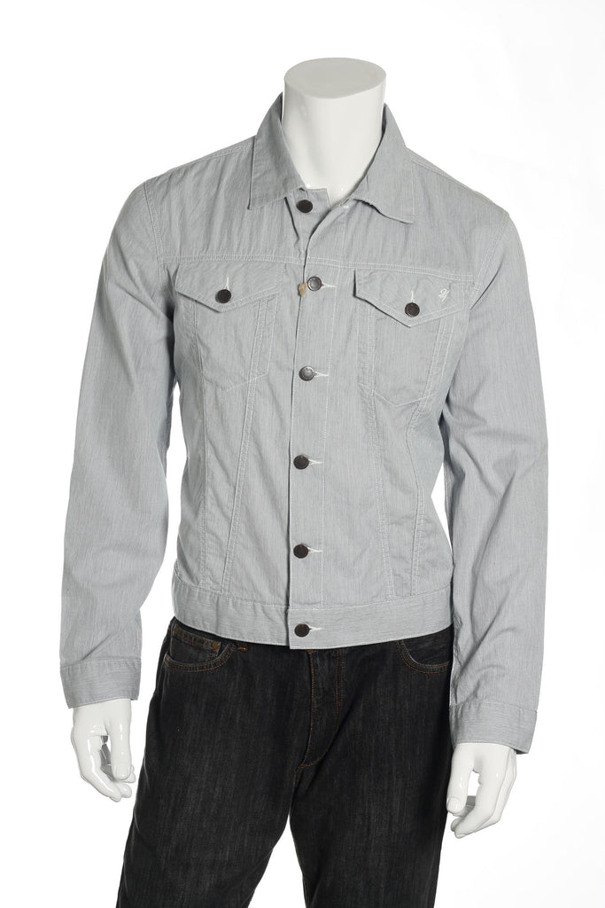 24 Standard Mens Blue Short Jacket