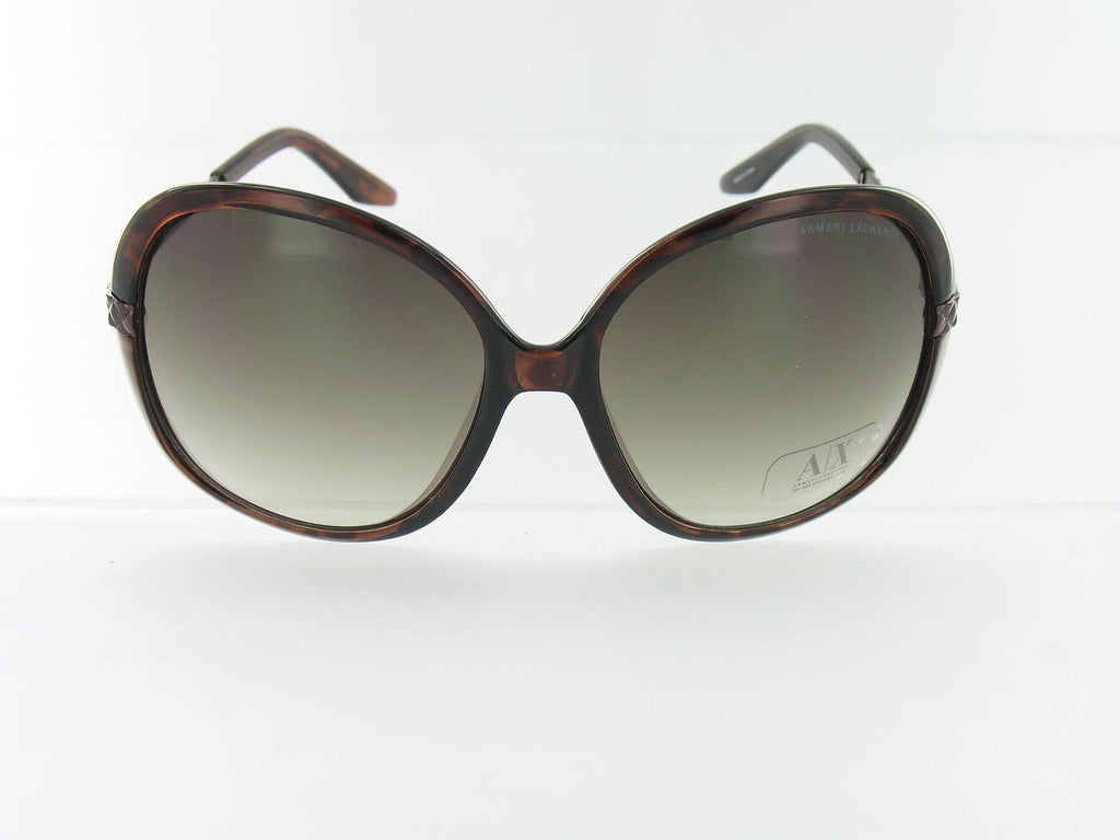 Armani Exchange Womens Brown Oval Sunglasses