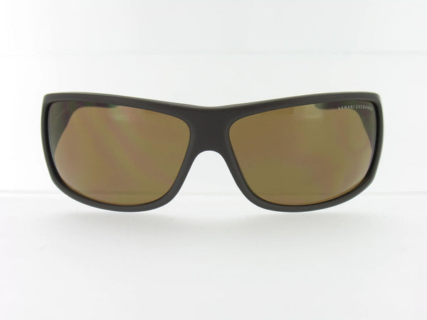 Armani Exchange Unisex Brown Wrap Sunglasses