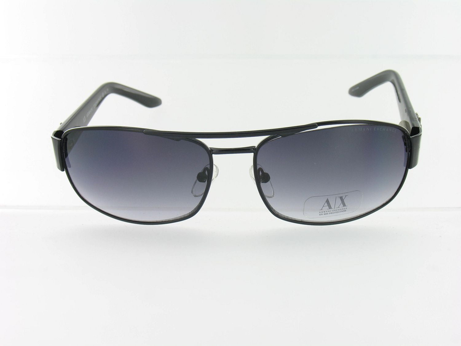Armani Exchange Unisex Black Aviator Sunglasses