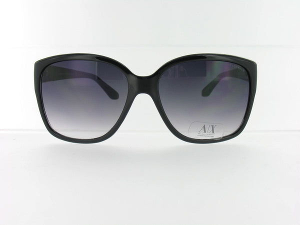 Armani Exchange Unisex Black Gradient Rectangle Sunglasses