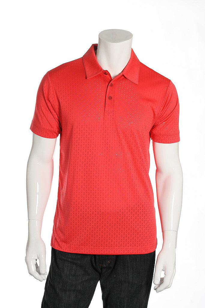 Adidas Golf Mens Pink Polo Shirt