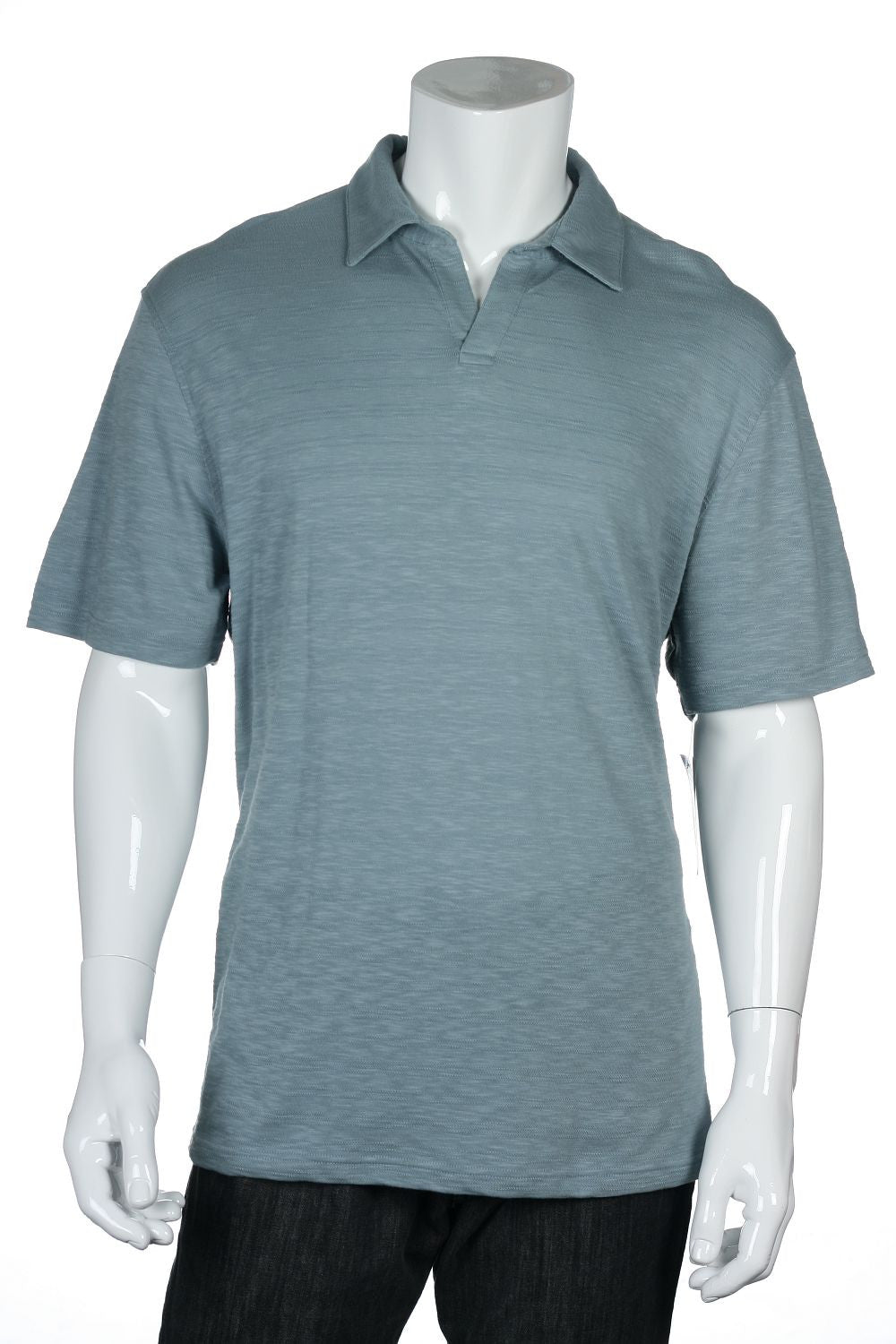 Alfani Mens Aqua Polo Shirt