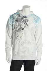 Archaic Mens White Graphic Hoodie