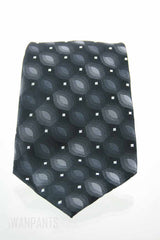 John Ashford Mens Black Graphic Tie