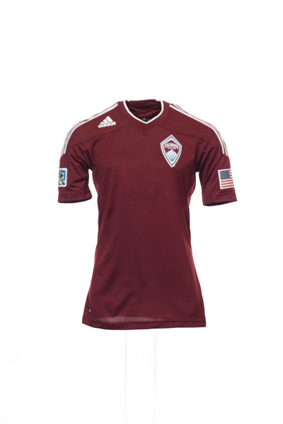 Adidas Mens Wine Graphic MLS Colorado Rapids Jersey