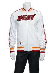 Adidas 'Hardwood Classics' Mens White NBA Miami Heat LeBron James Track Jacket