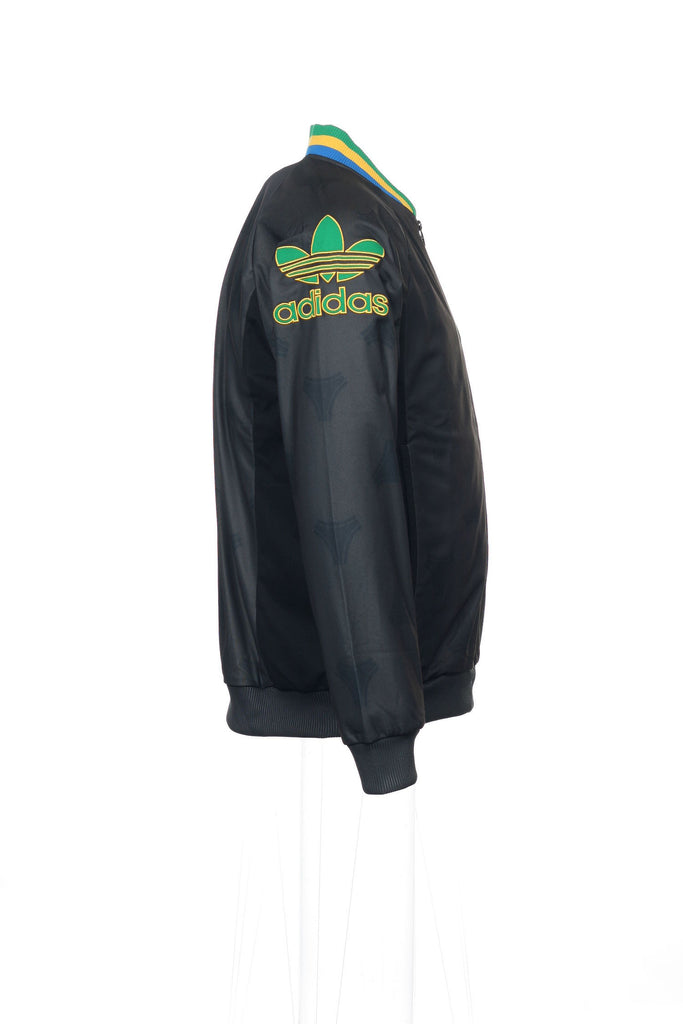 Adidas Mens Gray Abstract Bomber Jacket