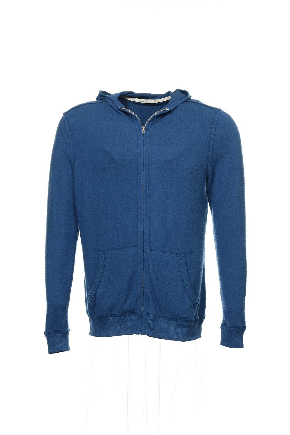Abbot + Main Mens Blue Heather Full Zip Hoodie