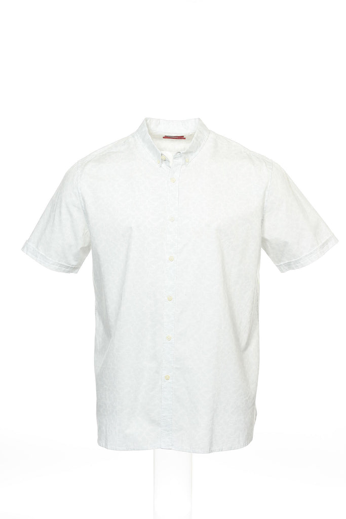 Alfani Mens White Floral Button Down Shirt