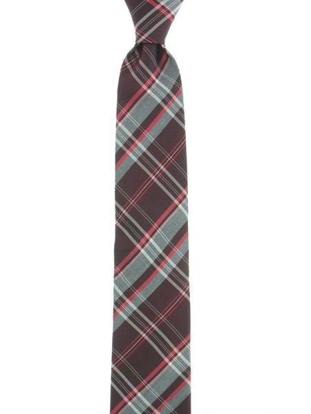 Alfani Mens Red Plaid Tie