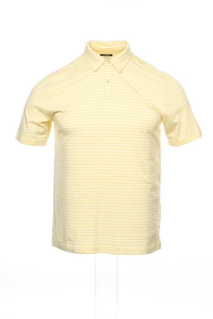 Alfani Mens Yellow Polo Shirt