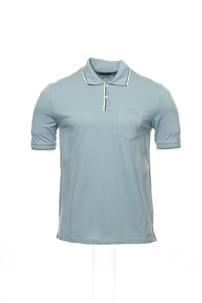 Alfani Mens Blue Polo Shirt