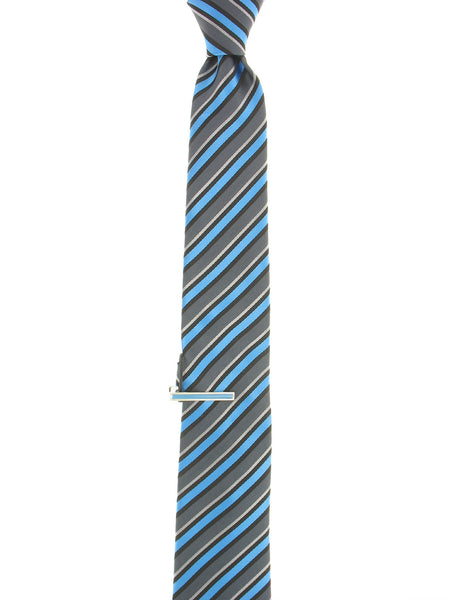 Alfani Mens Light Blue Plaid Tie