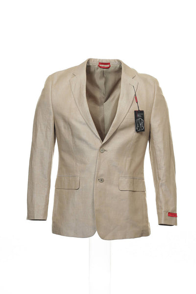Alfani Red Mens Beige 2 Button Sport Coat