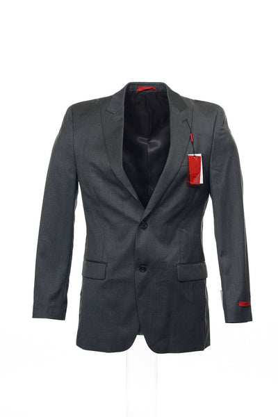 Alfani Red Mens Gray 2 Button Sport Coat