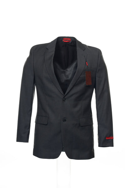 Alfani Red Men's Gray Pinstripe 2 Button Sport Coat