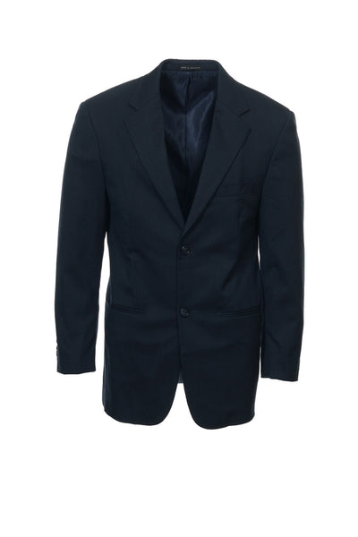 Alfani Mens Blue Pinstripe 2 Button Sport Coat