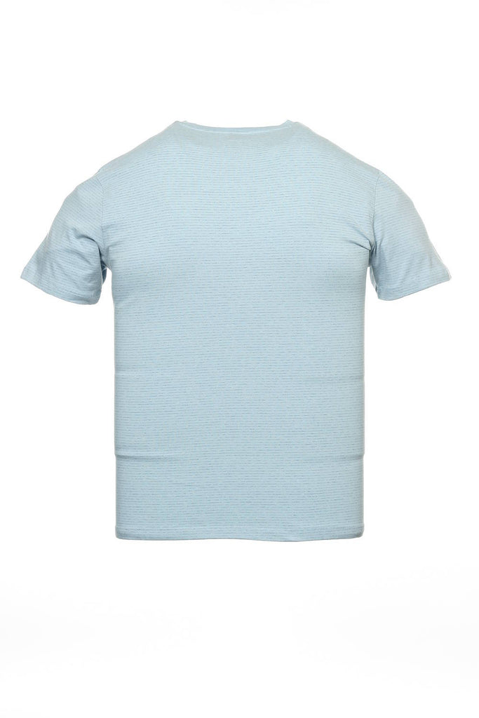 Alfani Mens Light Blue Striped T-Shirt
