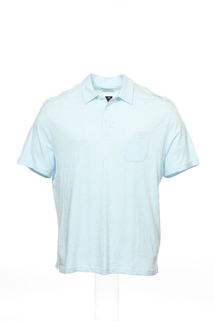 Alfani Mens Light Blue Polo Shirt