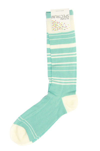 Alfani Mens Aqua Striped Casual Socks
