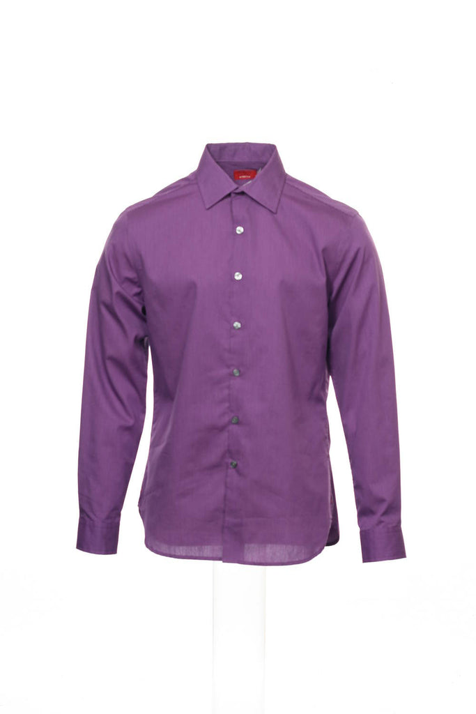 Alfani Red Mens Purple Micro Striped Button Down Shirt