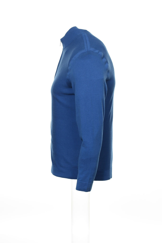 Alfani Mens Blue Full Zip Sweatshirt