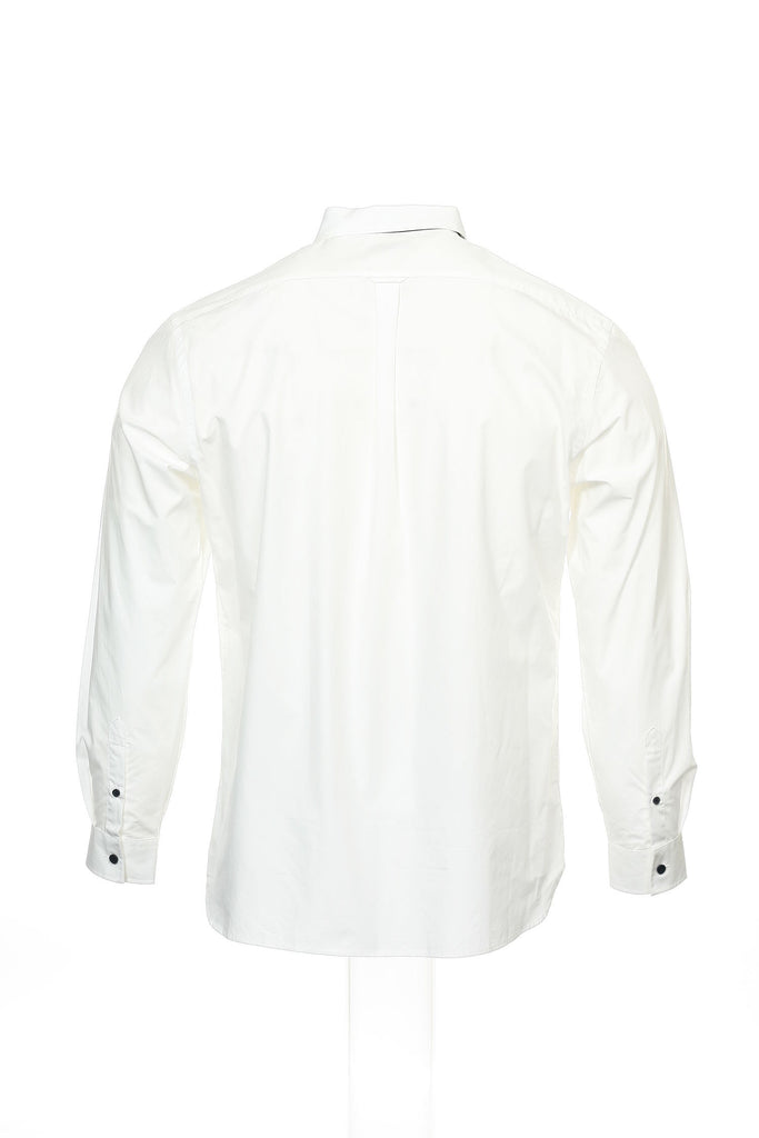 Alfani Red Mens White Color Block Button Down Shirt