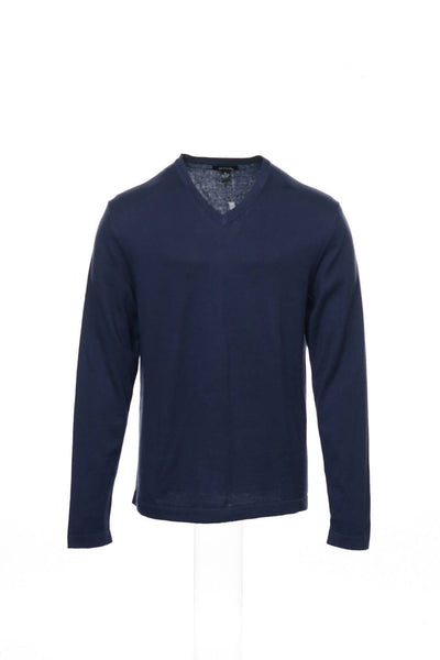 Alfani Mens Blue V-Neck Sweater