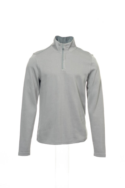 Alfani Red Mens Light Gray Half Zip Sweatshirt