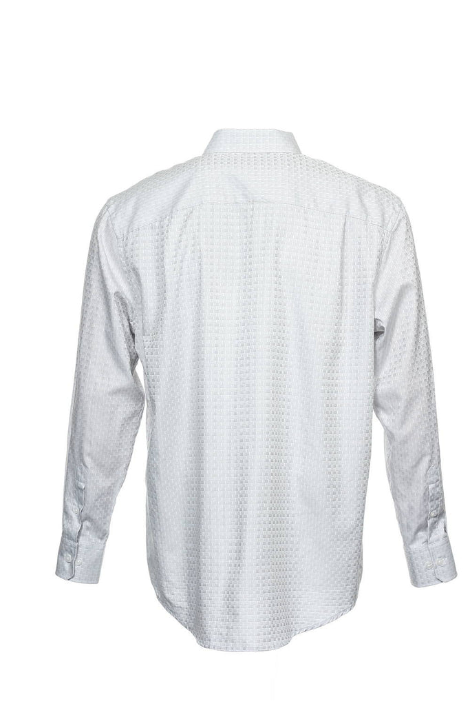 Alfani Mens Light Gray Two Tone Button Down Shirt