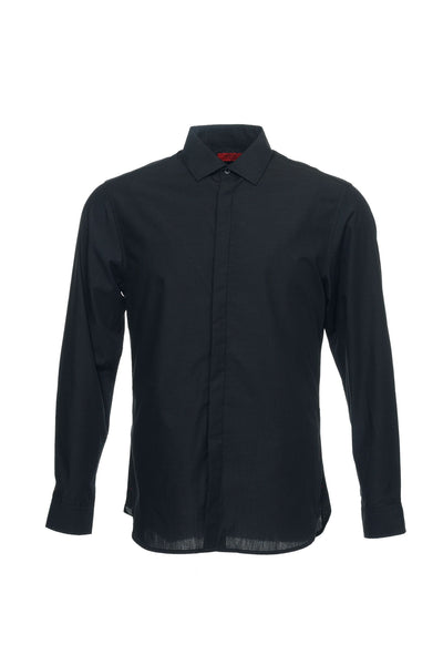 Alfani Mens Black Micro Striped Button Down Shirt