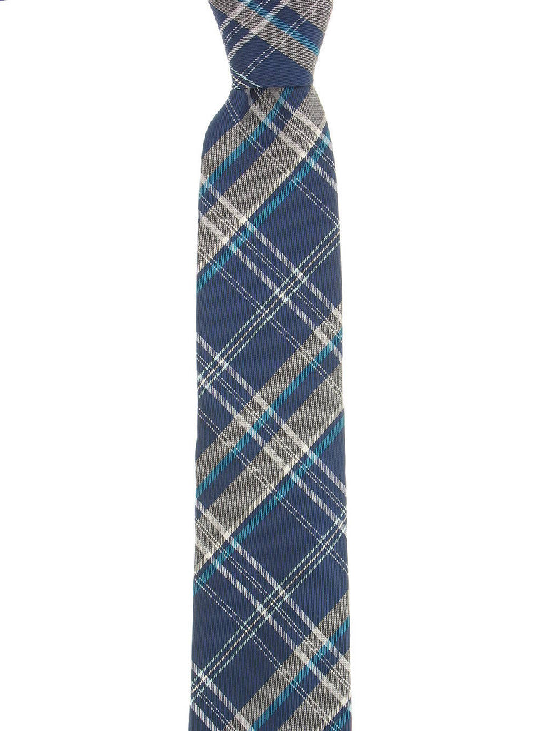 Alfani Mens Blue Plaid Tie