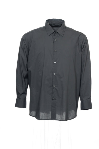 Alfani Big & Tall Mens Gray Pinstripe Button Down Shirt