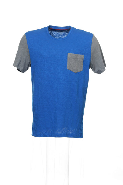 Alfani Mens Blue Color Block T-Shirt