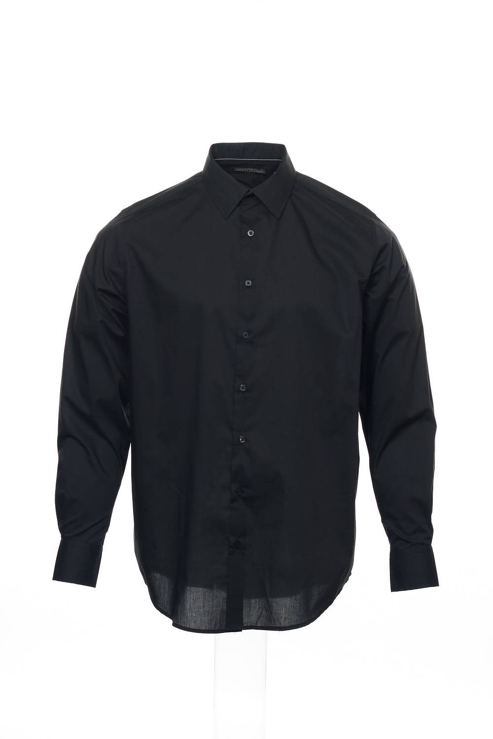 Alfani Big & Tall Mens Black Pinstripe Button Down Shirt