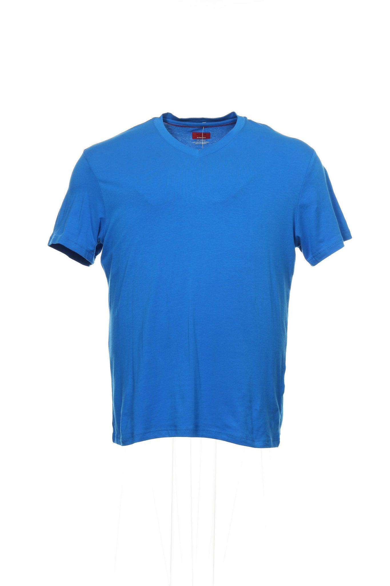 Spectrum by Alfani Mens Blue V-Neck T-Shirt