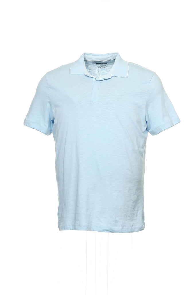 Alfani Mens Light Blue Heather Polo Shirt