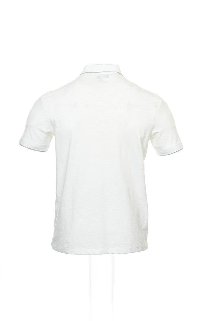 Alfani Mens White Heather Polo Shirt