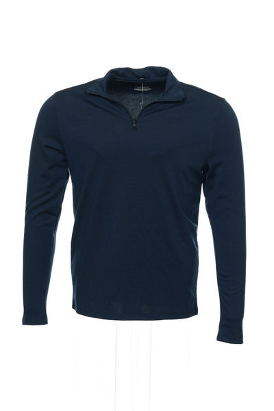 Alfani Mens Blue Half Zip Sweater