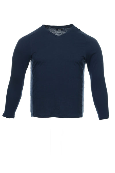 Alfani Mens Blue Heather Pullover Shirt