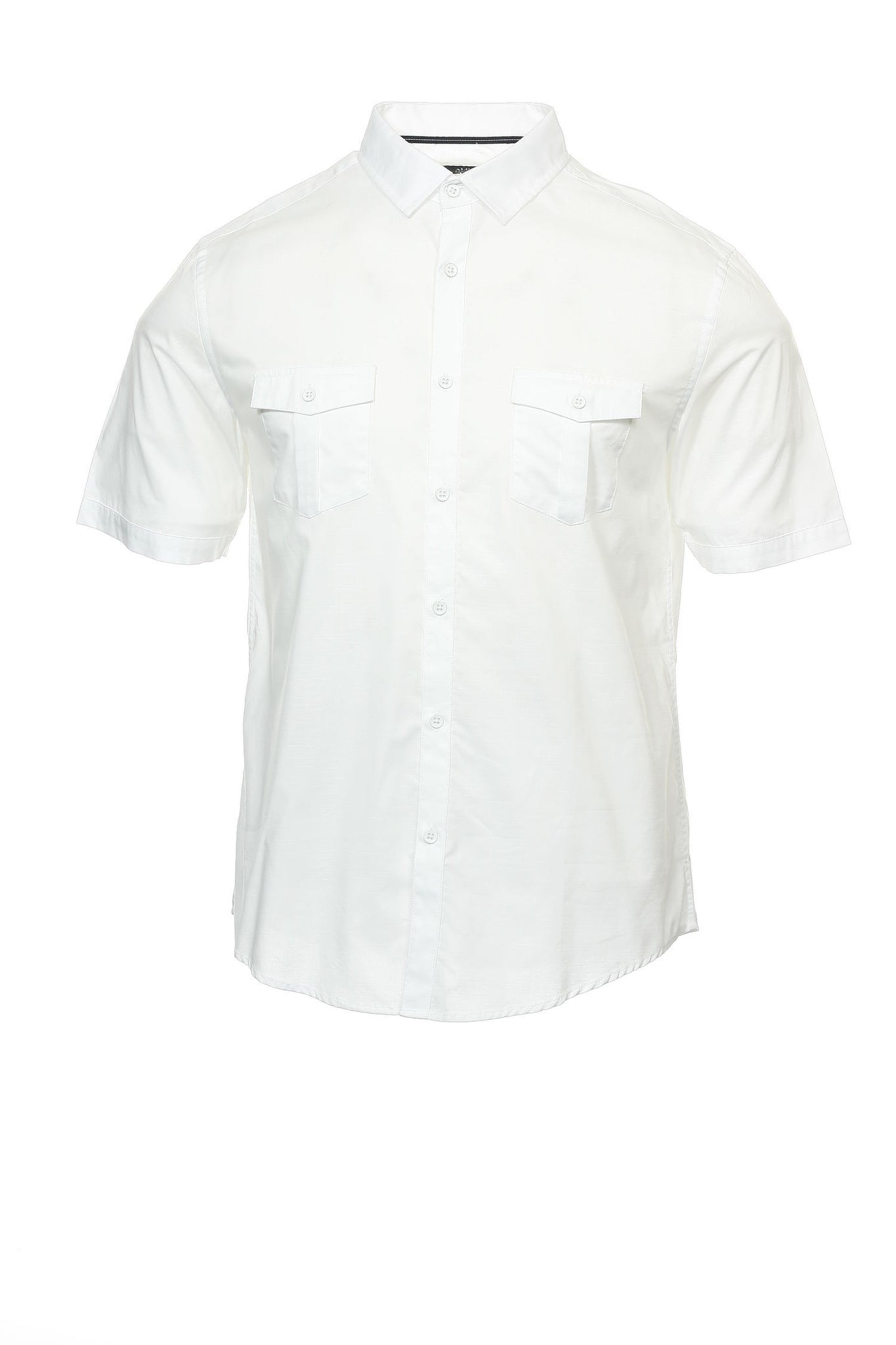 Alfani Mens White Heather Button Down Shirt