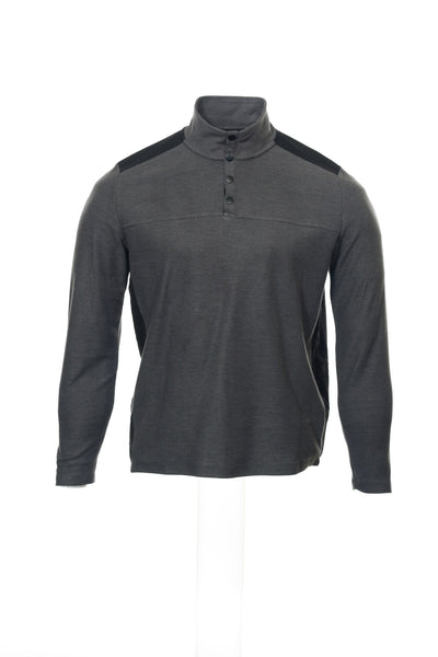 Alfani Mens Gray Heather Mock Neck Sweater