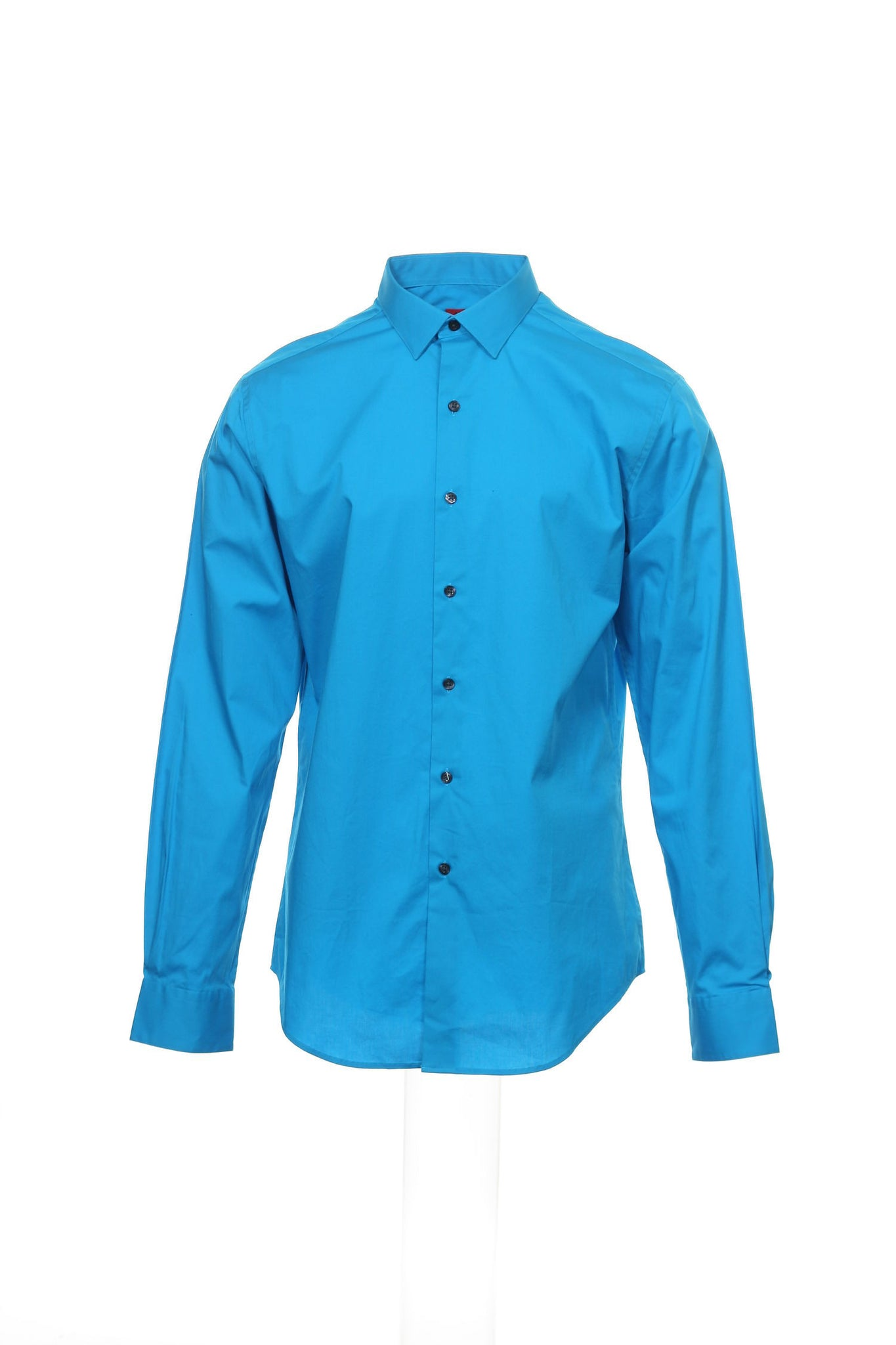 SLIM FIT by Alfani Mens Blue Button Down Shirt