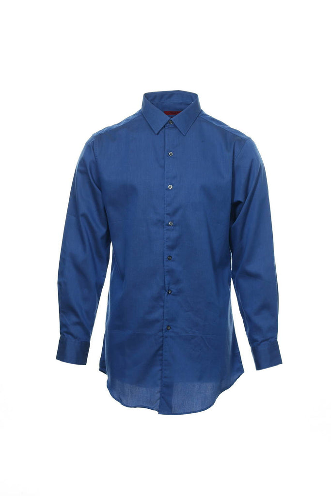 Alfani Mens Blue Button Down Shirt